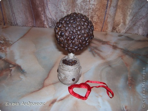 Кофейное дерево, подарок на деревянную свадьбу (5 лет) фото 2