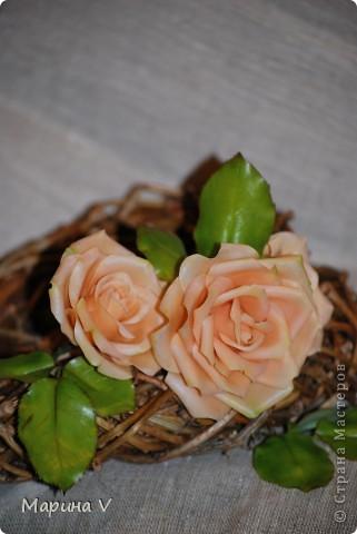 """Розы сделаны из само варенного холодного фарфора, ромашка -- из глины """"хаирти софт""""  фото 2"""