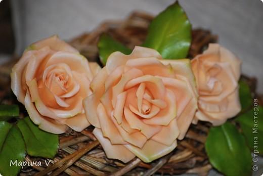 """Розы сделаны из само варенного холодного фарфора, ромашка -- из глины """"хаирти софт""""  фото 3"""