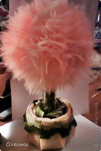 Фатиновое деревце, сделанное на День варенья моей любимой Кудряшке:) фото 5