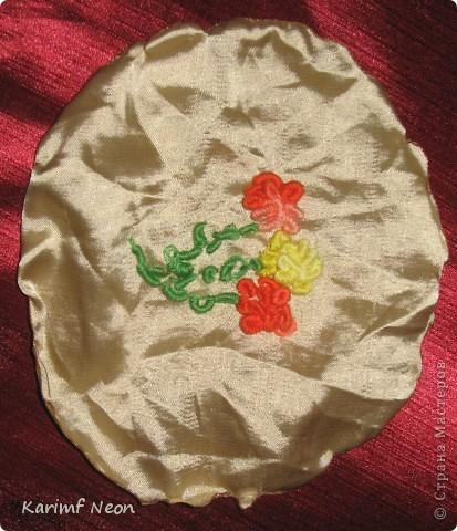Для одной из поделок мне понадобилось небольшое панно с розочками. Я вспомнил, что много лет назад в школе, на уроках домоводства мы делали симпатичные вышивки.  фото 1