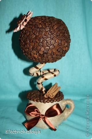 Вот наконец и родилось у меня кофейное дерево. Образ собирательный - много смотрела работы мастериц с нашего любимого сайта фото 1