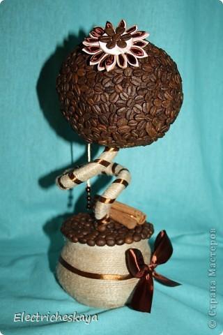 Вот наконец и родилось у меня кофейное дерево. Образ собирательный - много смотрела работы мастериц с нашего любимого сайта фото 2