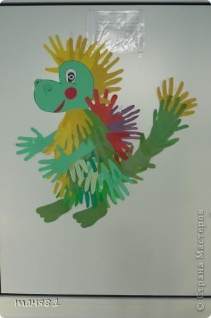 Такого вот дракончика мы сделали с детьми  для украшения двери кабинета. фото 1
