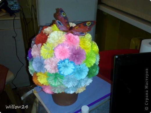 Цветы и бабочки на них фото 2