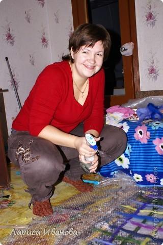 Всем мастерицам - доброго времени суток! Хочу поделиться с вами радостью: у меня теперь есть замечательный шерстяной шарфик, который родился в руках (и ногах) моих и моей подруги Леночки (https://stranamasterov.ru/user/7907) фото 5