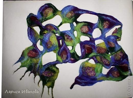 Всем мастерицам - доброго времени суток! Хочу поделиться с вами радостью: у меня теперь есть замечательный шерстяной шарфик, который родился в руках (и ногах) моих и моей подруги Леночки (https://stranamasterov.ru/user/7907) фото 11