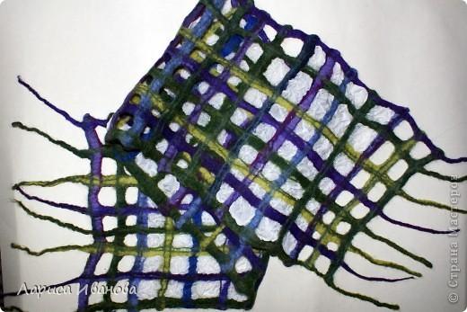 Всем мастерицам - доброго времени суток! Хочу поделиться с вами радостью: у меня теперь есть замечательный шерстяной шарфик, который родился в руках (и ногах) моих и моей подруги Леночки (https://stranamasterov.ru/user/7907) фото 15