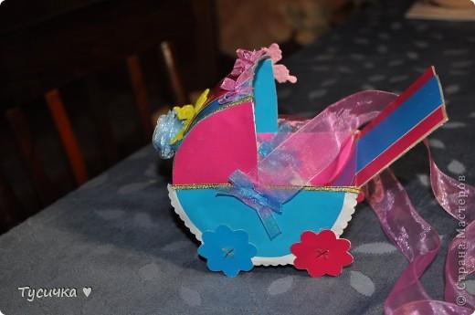 Вот эта коляска стала подарком маминым друзьям на свадьбу. фото 3