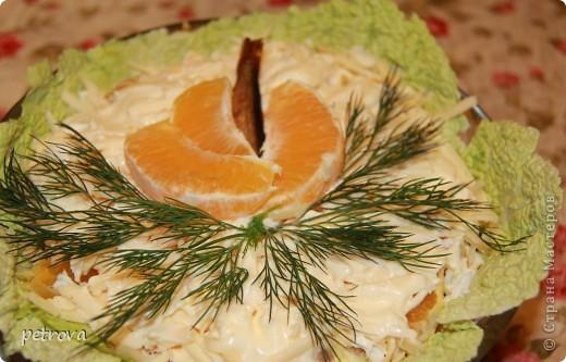 """Необычное сочетание продуктов - это салат """"Каприз"""". Рекомендую приготовить на новогодний стол, моим понравился. фото 2"""
