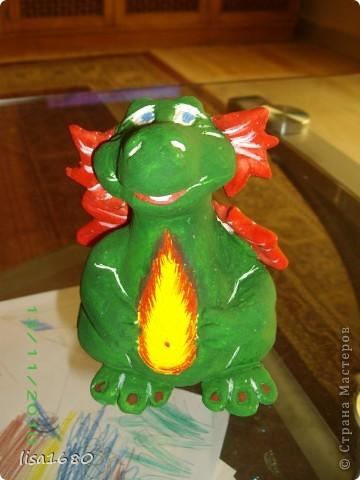 вот такой дракончик получился для ребёнка, как он прасил зелёного. А Новый год 2012 как раз год зелёного дракона... фото 1