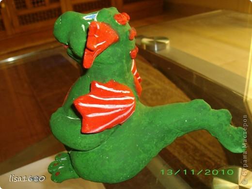 вот такой дракончик получился для ребёнка, как он прасил зелёного. А Новый год 2012 как раз год зелёного дракона... фото 7