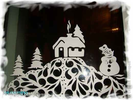Интерьер Сказка Украшение Новый год Вырезание Украшаем окна к Новому году или Новогодняя сказка на окне Бумага Клей фото 4