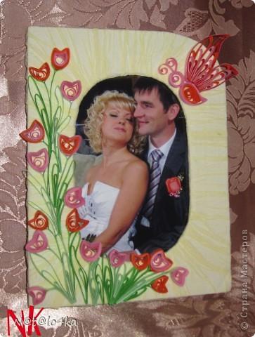 Рамочка получилась как раз для свадебного фото.  фото 1
