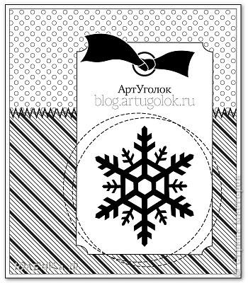 А я всё готовлюсь к Новому году :) Очередная открытка, но на этот раз со снеговиком. Хочу поучаствовать с ней в задании от АртУголка http://blog.artugolok.ru/2011/12/46.html фото 2