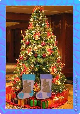Дарить деткам новогодние подарки в коробочках и пакетиках, как-то неинтересно............а вот в новогодних носочках празднично и по-новому))) фото 4