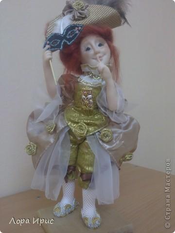 """Дорогие, Мастерицы! Давно хотела сделать куклу в стиле """"маскарад"""". И вот предоставляю на ваш суд новую  куклу. фото 1"""