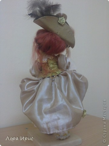 """Дорогие, Мастерицы! Давно хотела сделать куклу в стиле """"маскарад"""". И вот предоставляю на ваш суд новую  куклу. фото 3"""