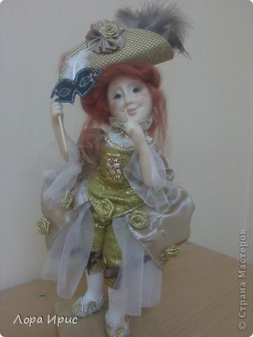 """Дорогие, Мастерицы! Давно хотела сделать куклу в стиле """"маскарад"""". И вот предоставляю на ваш суд новую  куклу. фото 4"""