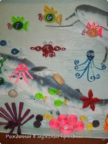 Много в Стране мастеров работ видела на тему морского дна, и захотелось тоже что-то наподобие сделать. По знаку зодиака я рыба, поэтому водная стихия мне близка) фото 3