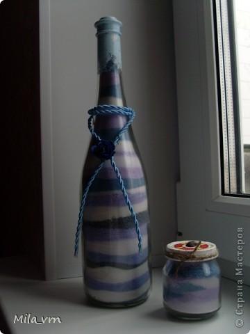 Сама удивляюсь, что закончила эту насыпушку)))) Стоит у меня бутылочка с солью уже несколько месяцев, но декор все никак не хотел на нее ложиться... фото 2