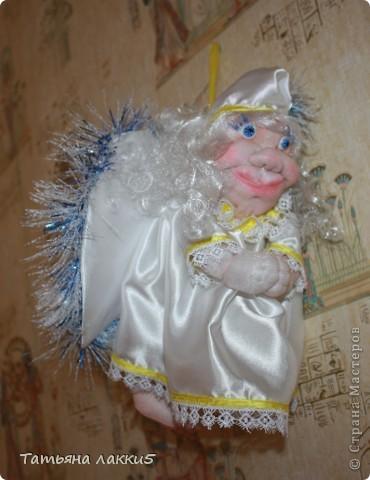 Хотела сделать ангела, а получился мудрый волшебник из страны Мастеров фото 2