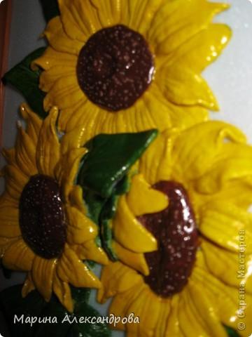 Герберы...очень люблю эти цветы! Они у меня первые...лепила для мамы на день рождения...но вот думаю, не великовата ли рамочка? Девочки подскажите, мне важно ваше мнение... фото 5