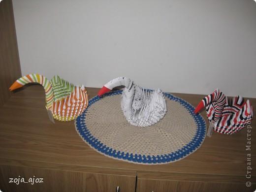 Мои радужные лебеди.Изготовлены в ноябре 2011 года фото 1