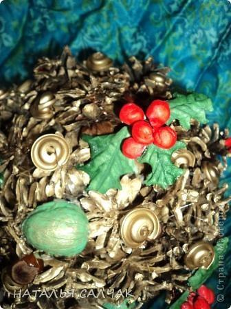 Бонсай топиарий Новый год Рождество Моделирование конструирование НОВОГОДНЕЕ ДЕРЕВО ИЗ ШИШЕК Шишки фото 2
