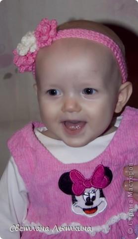 Dec 8, 2011 - Украшение Вязание крючком Вязанный ободок для девочки Пряжа.  Поделиться ссылочкой: 1. Моей доченьке...