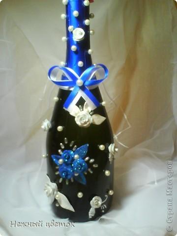 """Вот такая бутылочка у меня вышла. Не совсем то, что хотела увидеть. Я ее называю """"неудавшийся результат"""" фото 1"""