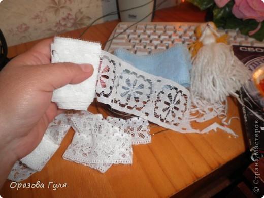 Помпоны удлиненные на туловище и волосы. фото 14