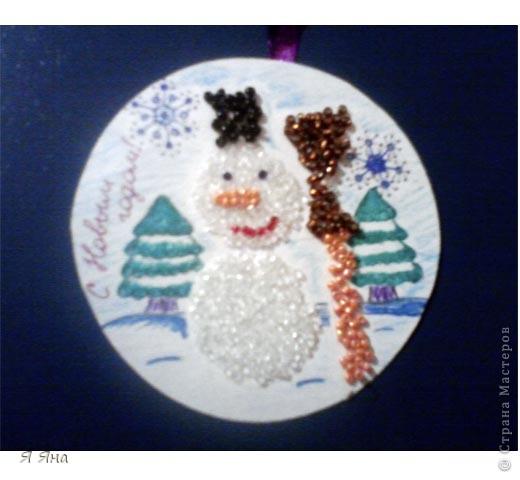 Захотелось сделать что-то красивое и интересное.       Вот и получился такой Снеговичок!