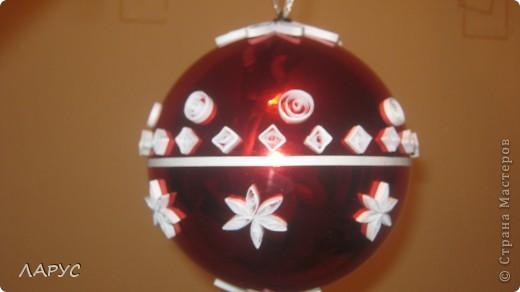 купила  красивые шары .. ..квилинг сделал их еще краше))))) фото 1
