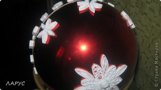 купила  красивые шары .. ..квилинг сделал их еще краше))))) фото 2