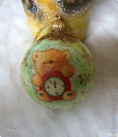 первый новогодний шар( не очень удачный)  фото 3