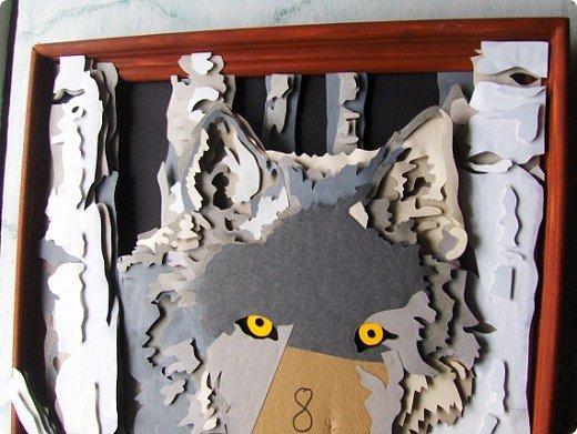 Волк. Размер работы 41х57 см. фото 4
