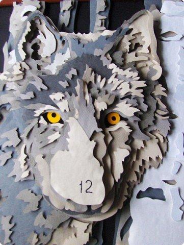 Волк. Размер работы 41х57 см. фото 5