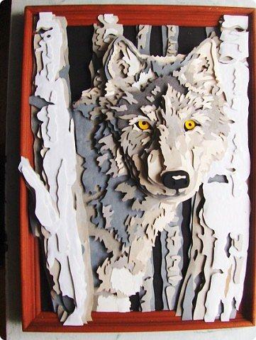 Волк. Размер работы 41х57 см. фото 6