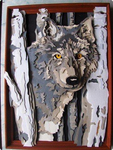 Волк. Размер работы 41х57 см. фото 1