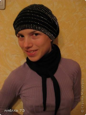 Вязание шапок с бисером