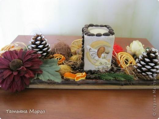 Добрый день, мои дорогие! Вот решила показать вам результат моей работы по МК Любаши (Зимняя вишенка) -рожденственский натюрморт. фото 1