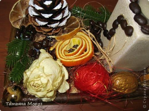 Добрый день, мои дорогие! Вот решила показать вам результат моей работы по МК Любаши (Зимняя вишенка) -рожденственский натюрморт. фото 3