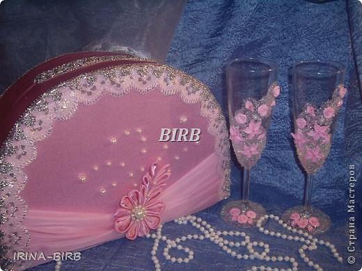 Розовые бокалы (попросили сделать такие..) фото 2