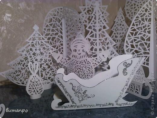 Поделка изделие Новый год Вырезание Сказочный лес Бумага фото 7