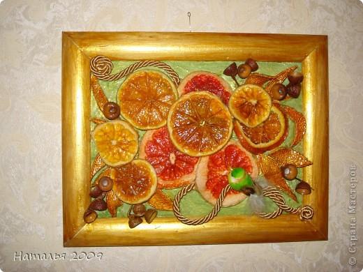 Панно из апельсинов и грейпруктов. фото 1