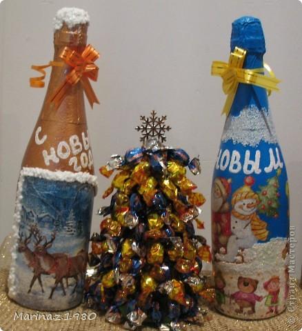 Добрые сутки всем! Вот и заканчивается у меня новогодняя бутылочная суета - эти наверно предпоследние - еще один рывок из парочки бутылочек и усе! фото 1