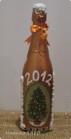Добрые сутки всем! Вот и заканчивается у меня новогодняя бутылочная суета - эти наверно предпоследние - еще один рывок из парочки бутылочек и усе! фото 4