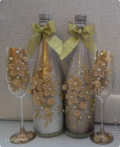 """Роспись - Свадебные хлопоты - бокалы, бутылки и другое """" Поиск мастер классов, поделок своими руками и рукоделия на SearchMaster"""