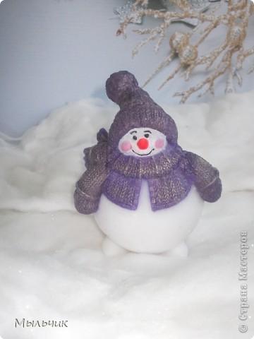 """Мыло """"Снеговичок"""" с ароматом черники. фото 2"""